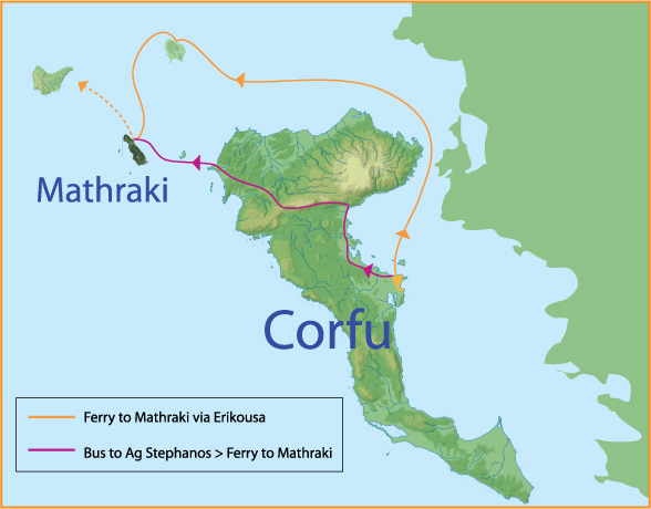 Mathraki near Corfu